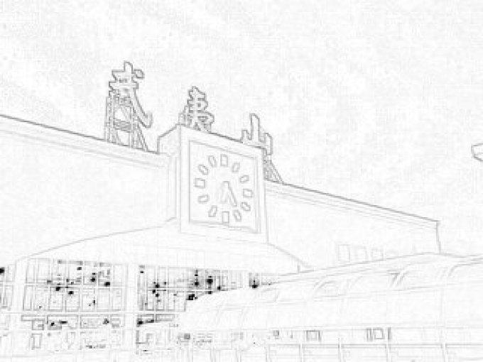 手绘厦门40年前的图片