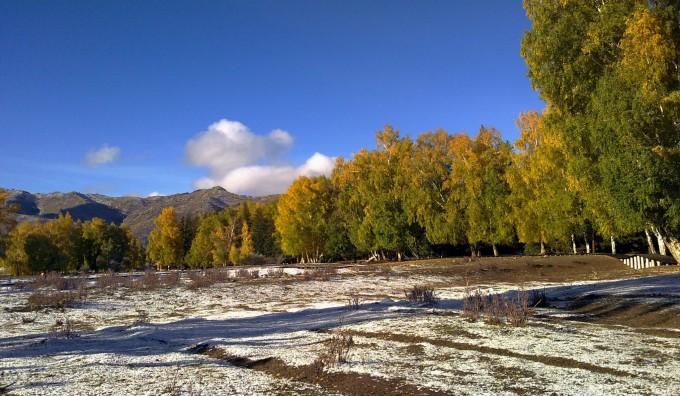 秋天的童话-------新疆富蕴县 可可托海