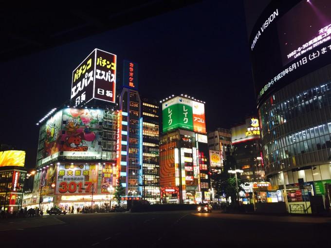 东京新宿街头风景